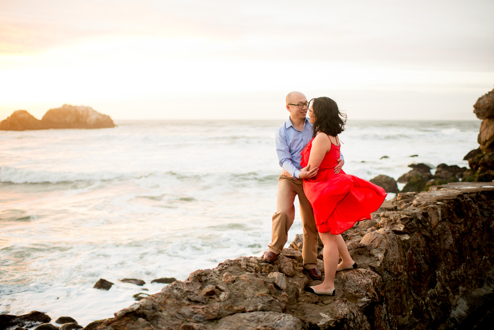 Engagement at Ocean Beach