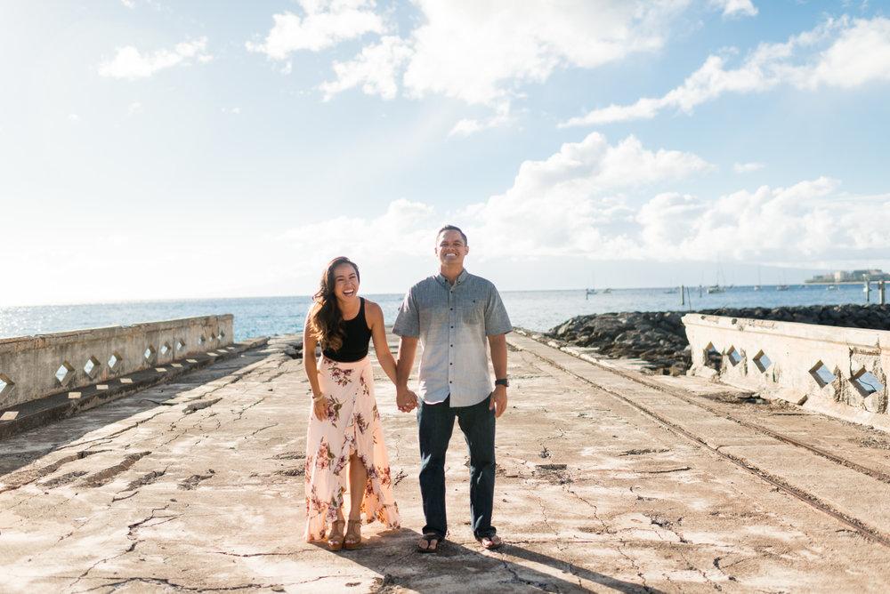 Maui Couples Photographer. Maui Adventure Photography. Candid Engagement Photography.