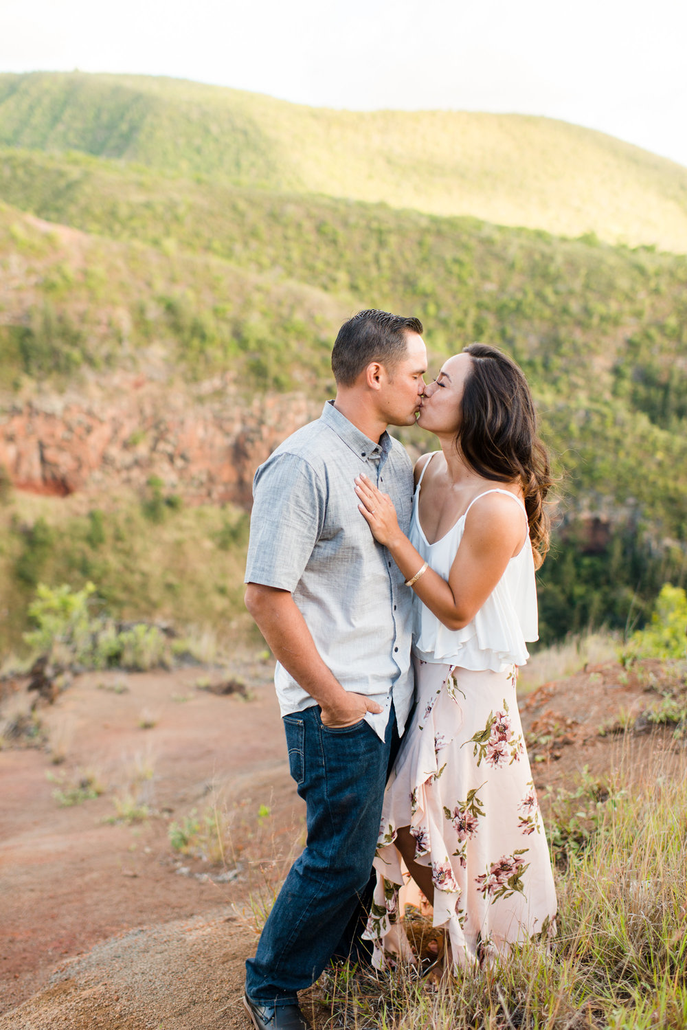 Maui Couples Photographer.  Maui Adventure Photography.  Candid Engagement Photography.