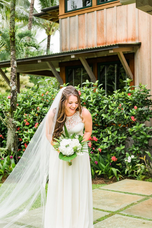 BEAUTIFUL KAUAI BRIDE FOR HER PO'OKU WEDDING