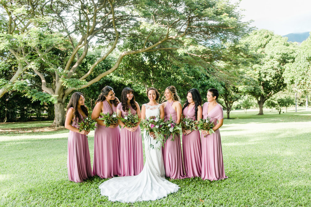 Maui Bridal Party at Olowalu