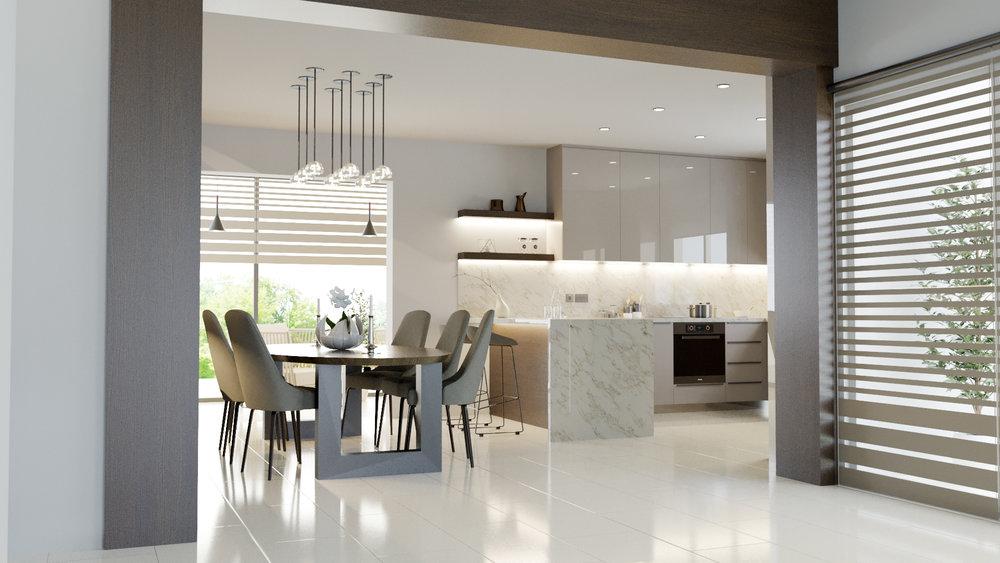 Kitchen interior render - renovation - Limassol, Cyprus