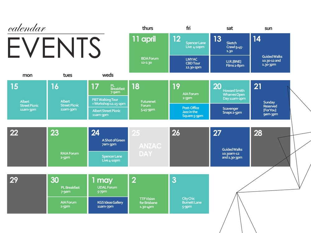 Calendar April Events : Landscape architecture — jenny humberstone