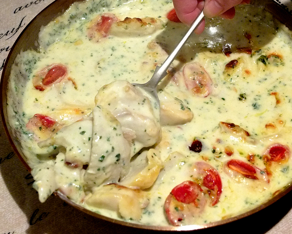 Cod in parsley cream sauce.jpg