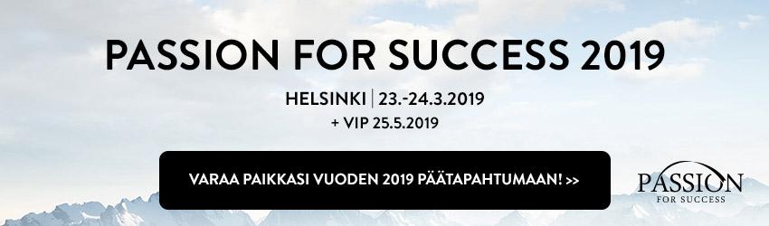 Joni Jaakkola nähdään yhtenä Passion for Success 2019 -seminaarin puhujana. Tutustu ja varmista paikkasi jo nyt!