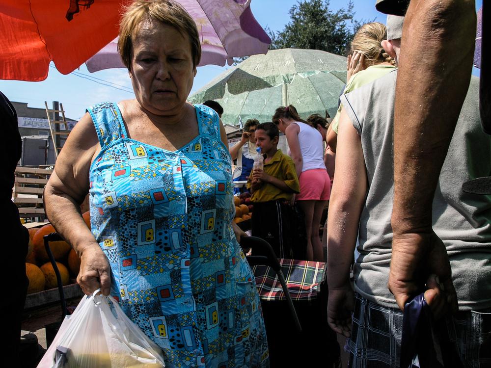 In a market in Odessa.