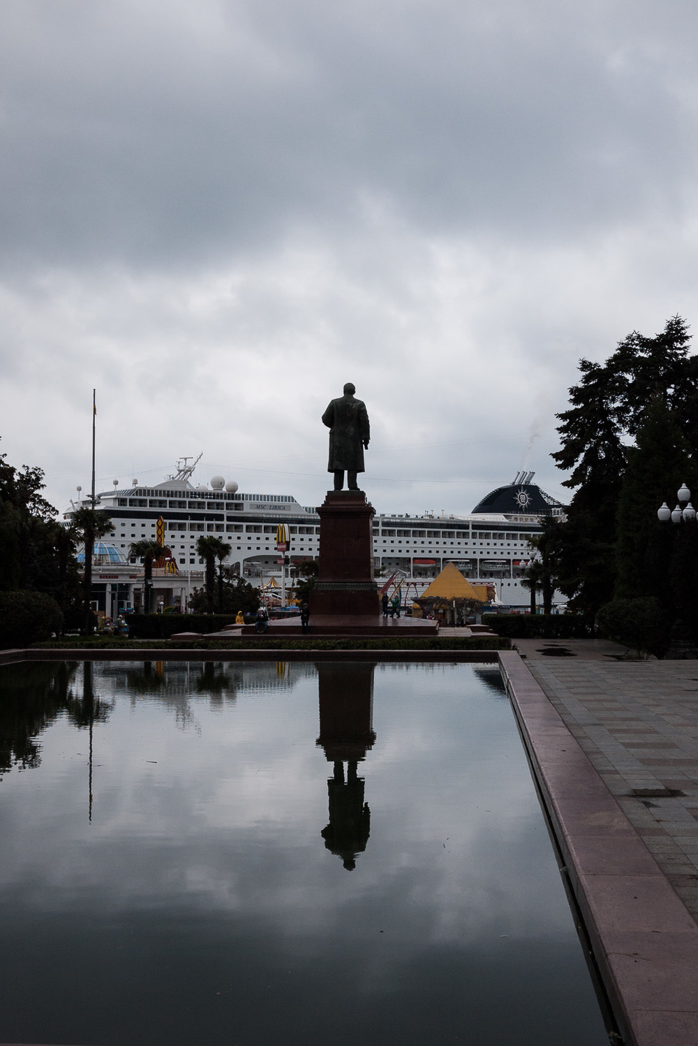 A statue of Lenin in Yalta, Crimea.