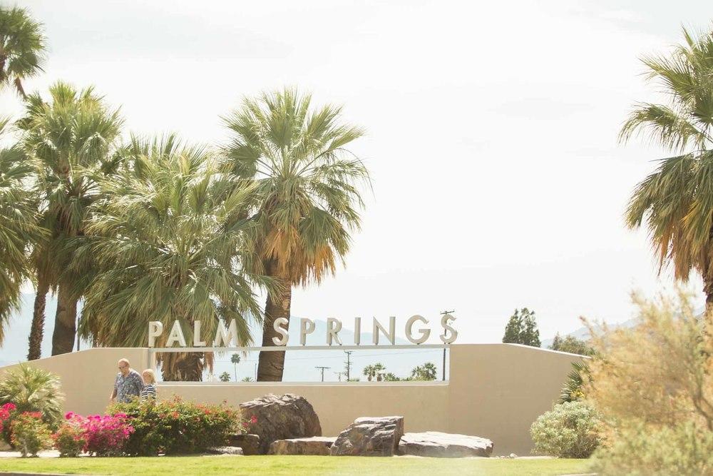 Warm Palm Springs, shot through the car window as we passed through.