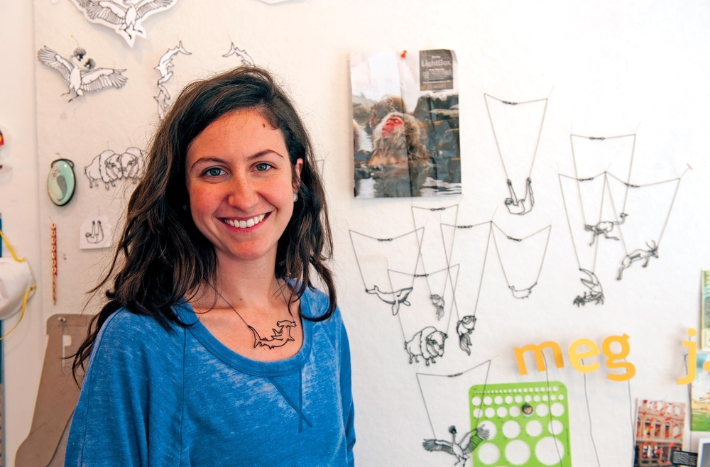 founder of ZUU studio, artist Meg Roberts   (photo credit: Scott Elmquist)
