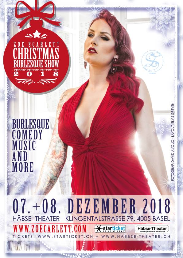 Zoe Scarlett Christmas Burlesque Show