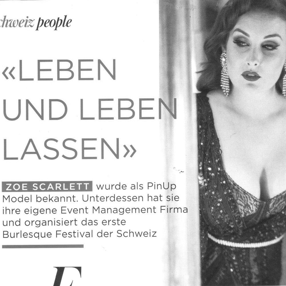 Presse - Über das Swiss Burlesque Festival wurde schon einiges in den Medien Berichtet. Hier eine kleine Auswahl.