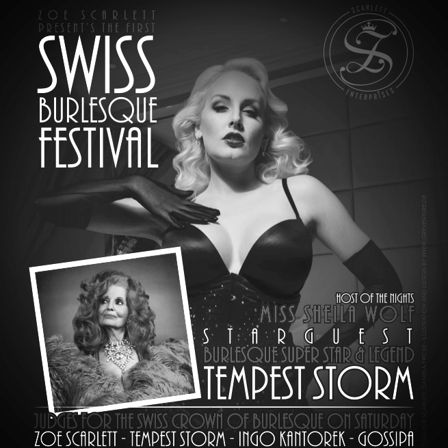 2017 - Das erste Swiss Burlesque Festival fand ende September 2017 im Häbse Theater in Basel statt