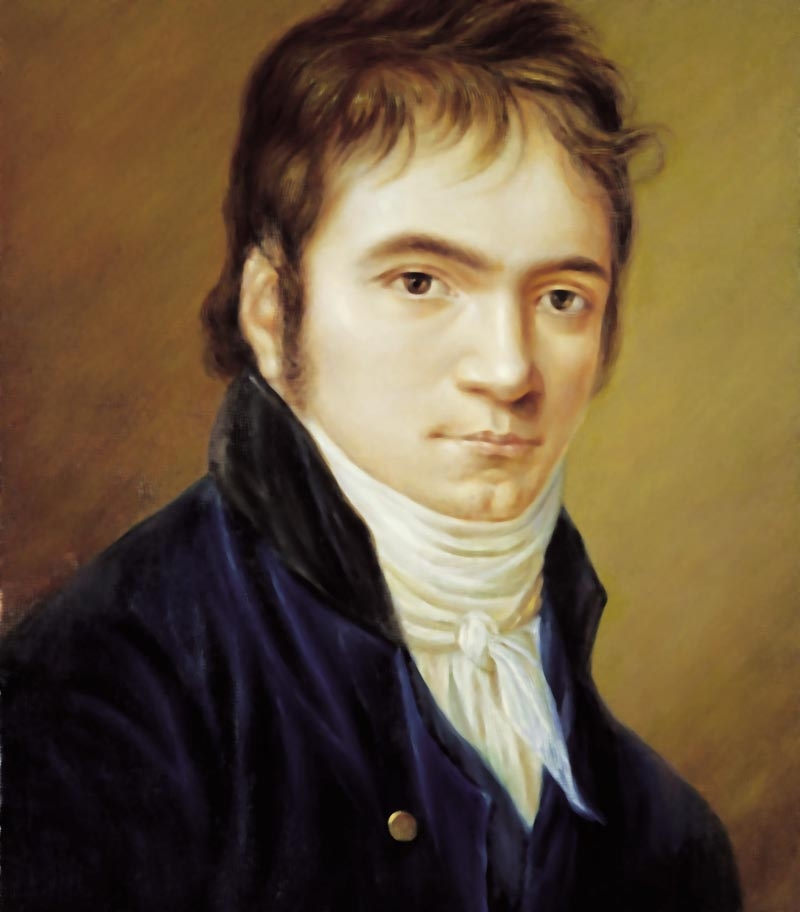 Beethoven in 1803,  painted by Christian Horneman