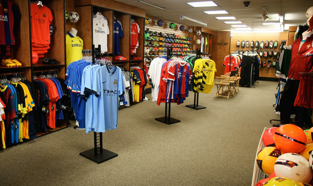Matthew Rappaport/For The Jersey JournalLooking for a soccer jersey? Premier Soccer in Hoboken seems to have them all