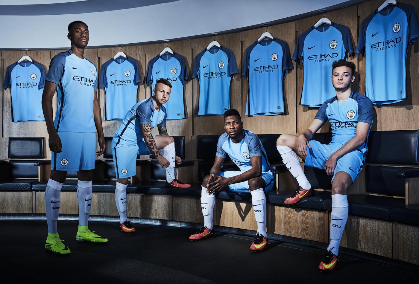 2f7a8e37 2016/17 Nike Home Kits: Manchester City, PSG & Barcelona — Soccer City  Sports Center