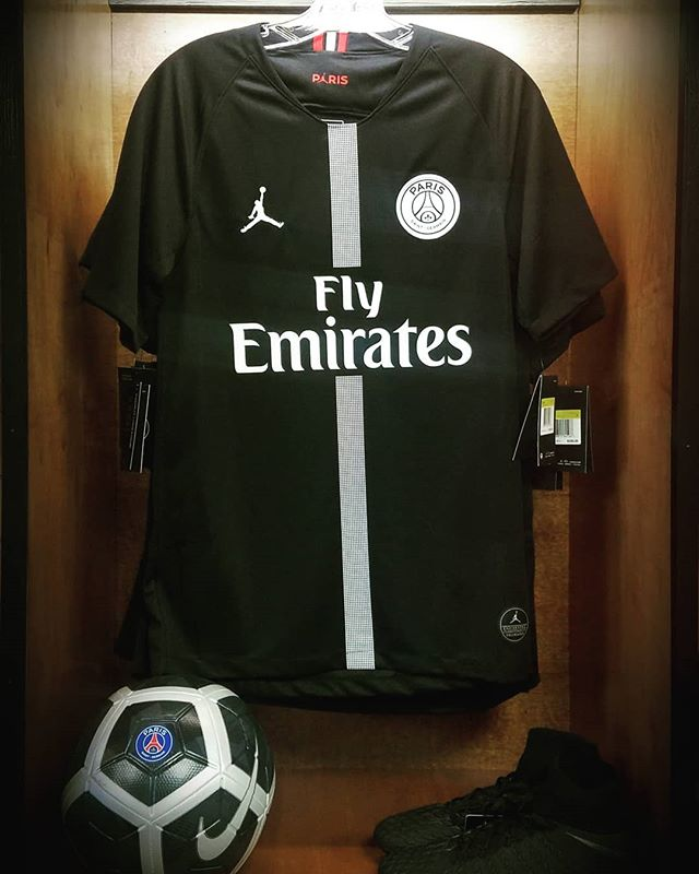 """Jordan Brand and Paris Saint-Germain share a distinct position in sport and style, so to partner with the club is a natural fit."" - Michael Jordan.  Check out the new #Nike #PSG x #Jordan jersey on sale now. Find it at eastcoastsoccershop.com!"