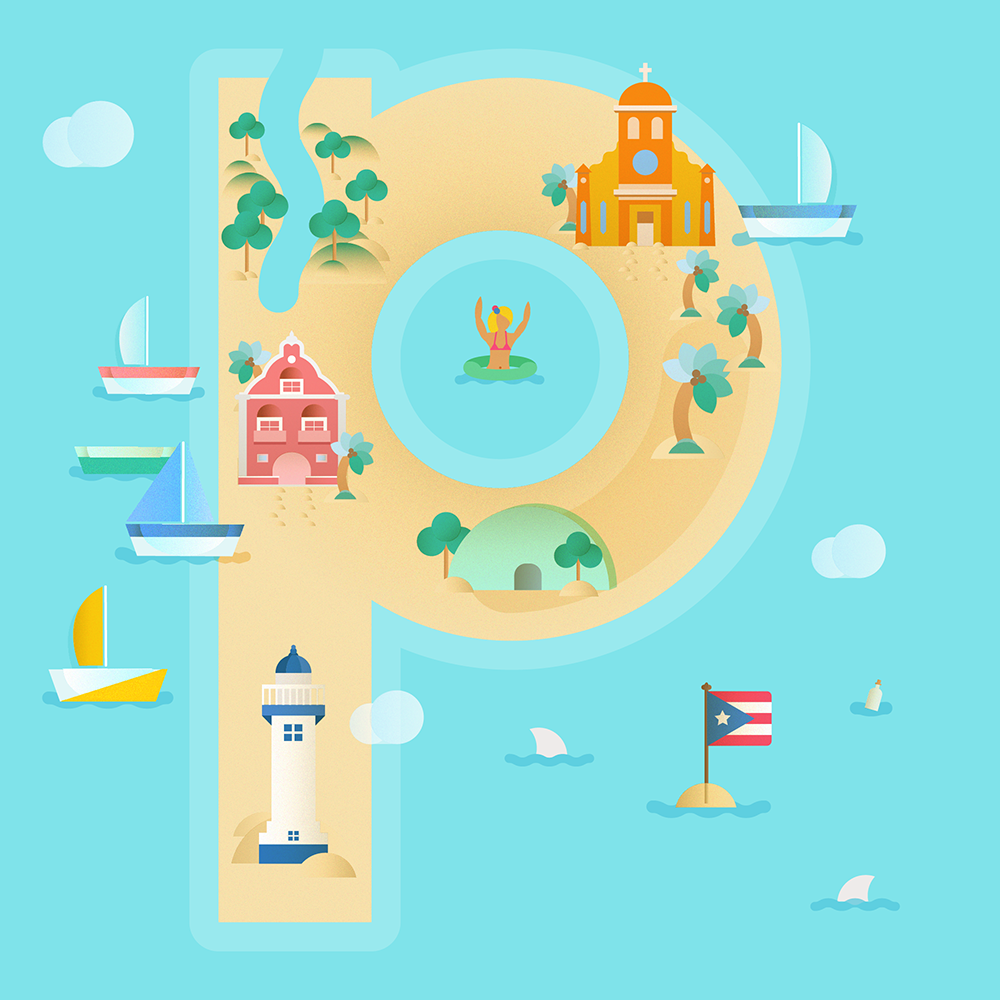 p is for puerto rico!