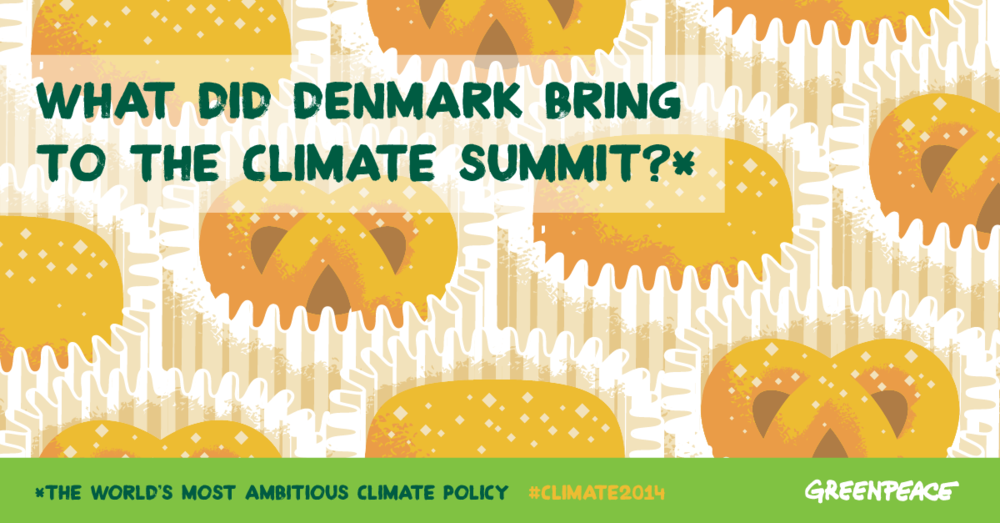 What did Denmark bring to the climate summit?