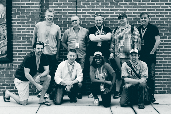 The Athletic Branding team photograph.