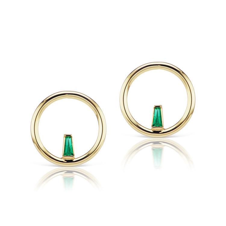 Echo Small Emerald Earring — Michelle Fantaci