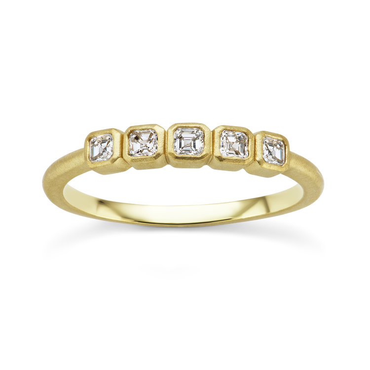 ring asscher diamond cut vintage products platinum shop