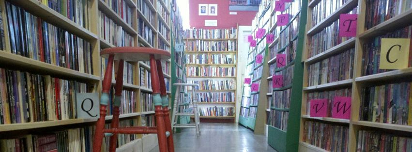 The fiction section of Bogart's Bookstore and Cafe 210 North High St. Millville, NJ