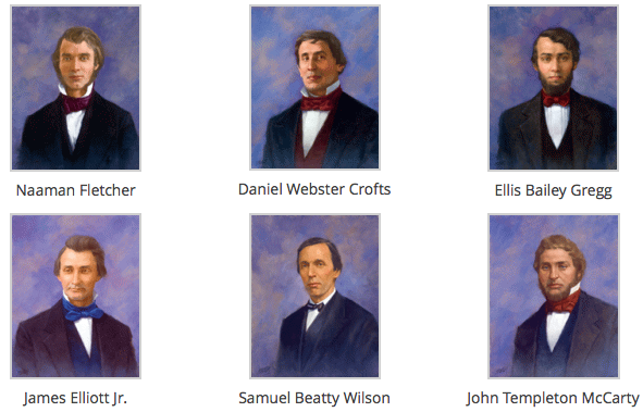 "The ""Immortal Six"" - Phi Gamma Delta's original founders."