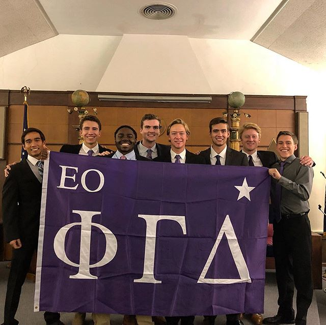 Congratulations to eight members of the Kappa pledge class and two members of the Iota pledge class for initiating last night! #mightyproud