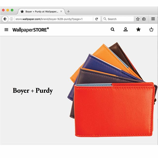 The Boyer and Purdy team is thrilled to announce the global launch of our leather goods; @store.wallpaper !! #design #designinspiration #milan #SaloneDelMobile #WallpaperSTORE #MilanDesignWeek #luxury #leather #accessories #travel #explore #adventure #smallleathergoods #slg #leatheraccessories