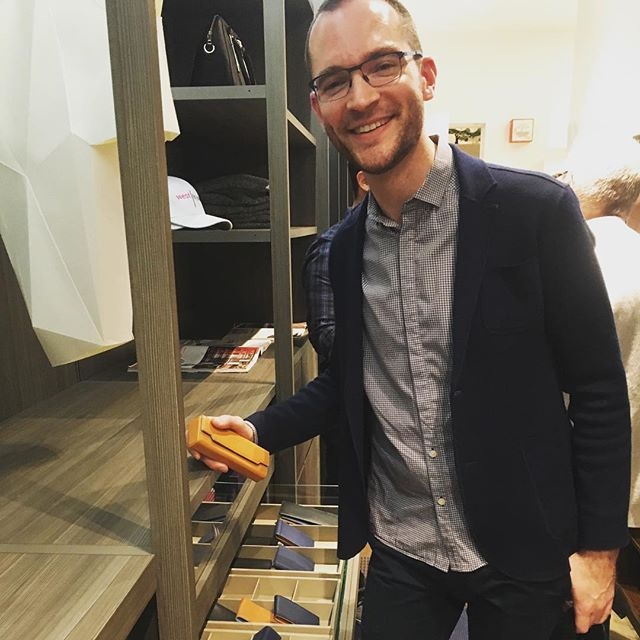 Checking on our goods during last evening's event at @west_nyc_home with @luxemagazine
