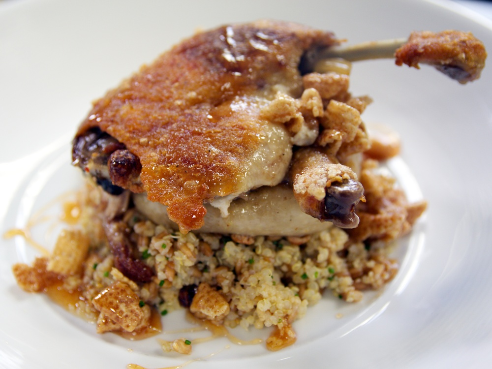 Honey Nut Cheerios Duck Confit by Harold Dieterle