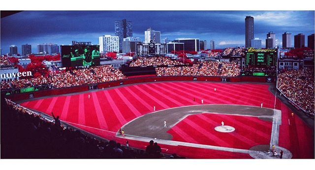 Wishing everyone a very spooky game 6 of the #WorldSeries. . #Cubs #Baseball #ChicagoCubs #Wrigley #WrigleyField #GoCubsGo #Chicago #NorthSide #WindyCity . #Aerochrome #Aerochrome400 #Kodak #KodakAerochrome #EIR #KodakEIR #IR #Infrared #ColorInfrared #ExpiredFilm #Film #FilmIsNotDead #ShootFilm #35mm #FPP #FilmPhotographyProject #FPPInfrachrome #Infrachrome #ColorInfraredFilm #InfraredFilm
