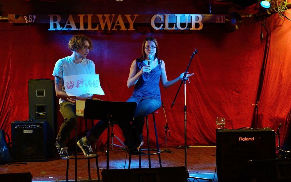 "Jasper Heaton and Aida Roige Mas discuss ""union views"" of love at the Railway Club."