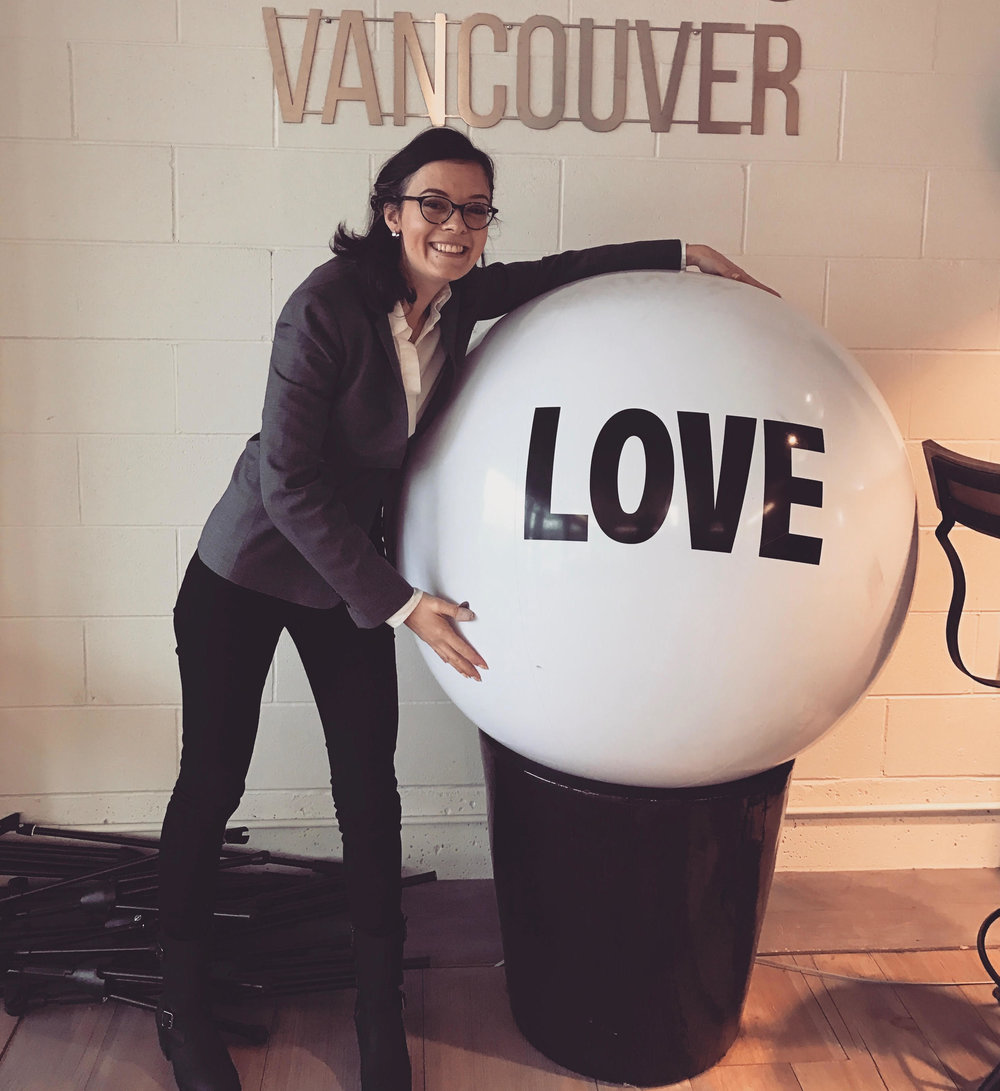 Unmissable photo opportunity at the studios of Roundhouse Radio in Vancouver.