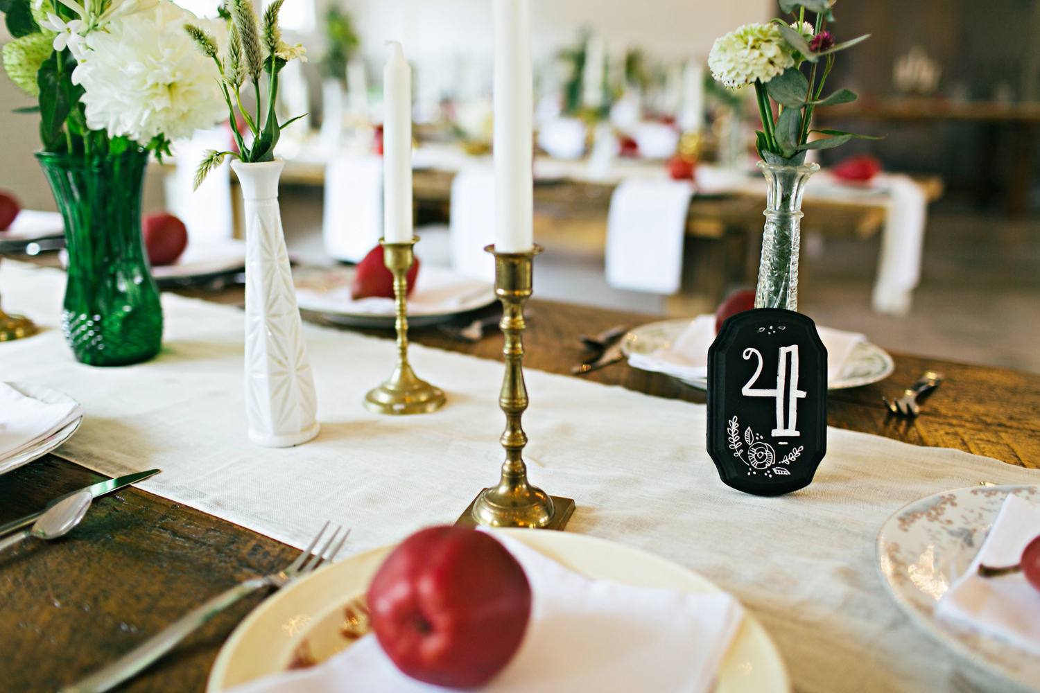 decorated do it yourself table rustic fall