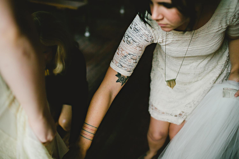 lace bridesmaid tattoo dress rustic