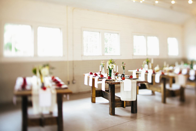 homemade barn wood tables reception fort mill south carolina