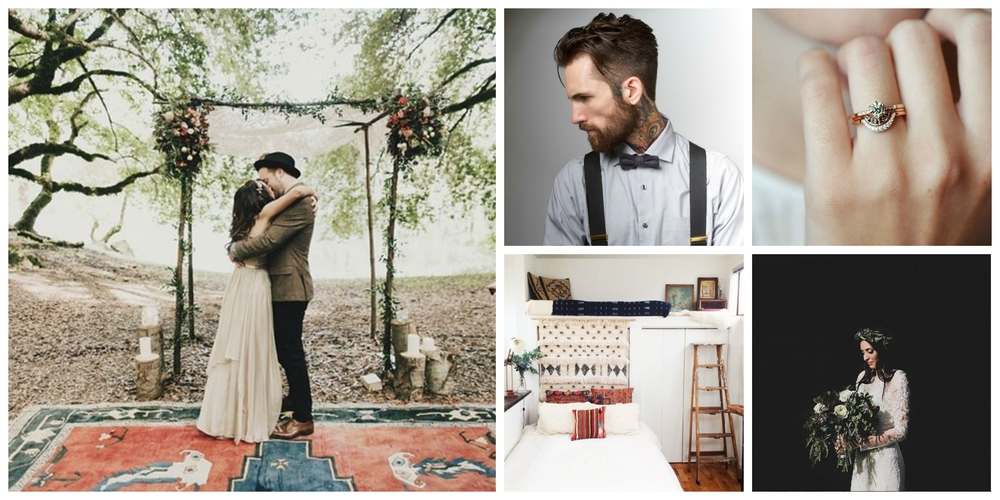 images i loved. my pinterest branding/couple/wedding ideas: left image by logan cole, clockwise credit from square images: weheartit, anna sheffield jewelry, tyler french and sfgirlbybay.