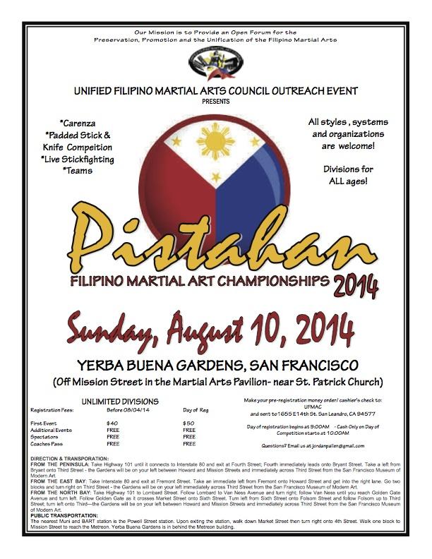 Pistahan Filipino Martial Art Championships 2014