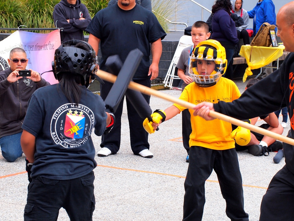 Kids doing martial arts (Photo by Sue Johnson, Crossbone Filipino Martials Arts)