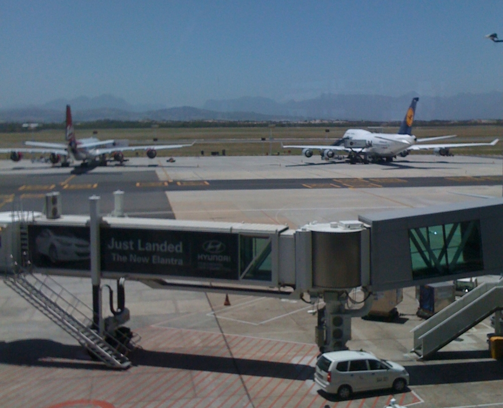 Jet way at Cape Town International Airport