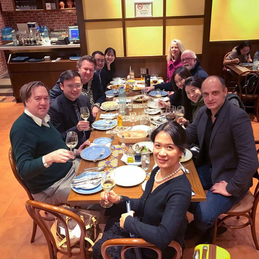 And of course there was lots of delicious food. Here the jury and director of the Macao Piano Festival and Competition are enjoying Portuguese cuisine, a historic staple of Macao. I particularly enjoyed the cheese baked potatoes.