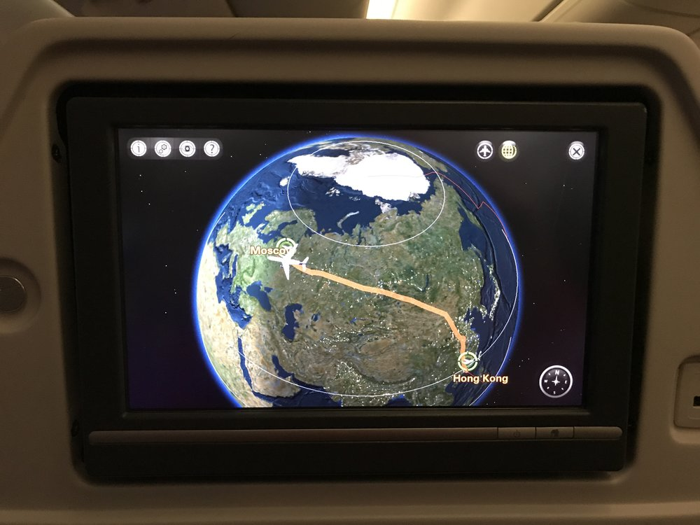 Aeroflot took me from Hong Kong to Frankfurt via Moscow. I had a truly great experience with them. The food was exceptionally good, and there was lots of it. The service was very friendly and attentive, and I would definitely recommend to give them a try.