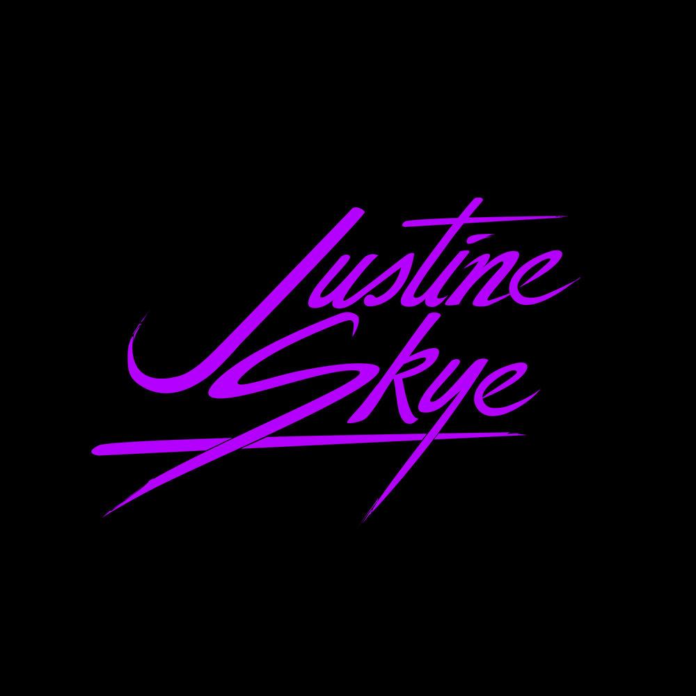 Justine skye    custom lettering   logo