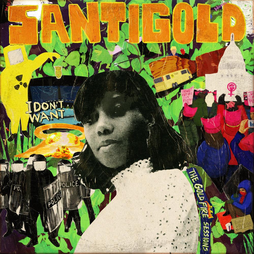 Santigold    the gold fire sessions   Album art