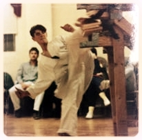 Here is Luke - as a kid breaking 3 ~1 inch pine boards with a spinning hook kick back in the Tang Soo Do days.