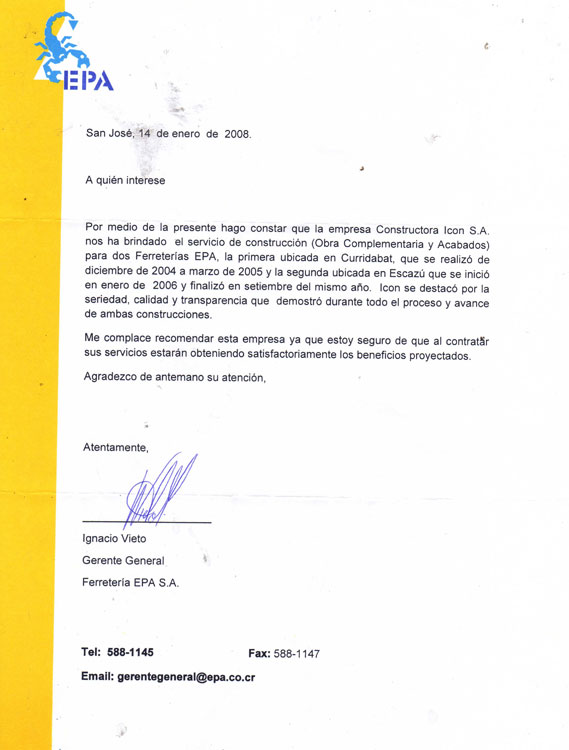 carta ferreter u00eda epa  u2014 constructora icon