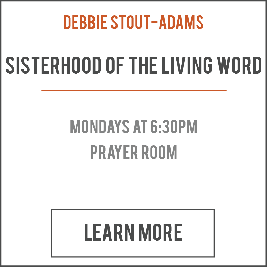 This is a continuous women's Bible study group where women fellowship, grow spiritually, and are empowered to live life at its fullest. Please join us for a refreshing Word from God!