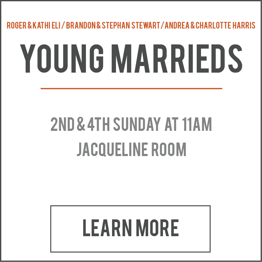If you have been married less than 15 years, join us to discuss issues that affect married couples today and learn how placing God at the center of our marriages makes all the difference. We are about being real, refreshing and authentic. We laugh and learn with each session you will have a fresh perspective on Christian marriage and all that it entails. Child Care is available.