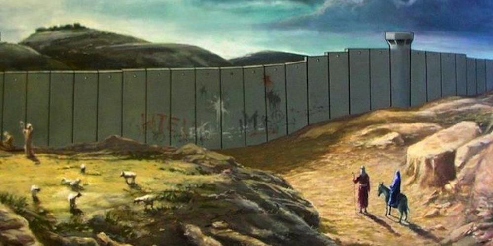 Cartão de natal do artista Britânico Banksy.